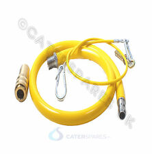 "CATERING GAS HOSE SUPPLY PIPE 1.5 METER LONG 1/2"" BSP QUICK RELEASE KIT PARTS"