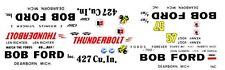 1964 Ford THUNDERBOLT BOB FORD INC. STINGER I 1/32nd Scale Slot Car DECALS