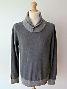 Japan Rags Men's Shawl Neck Angora Blend Jumper Sweater Size L Great Condition