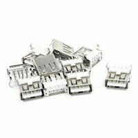 10Pcs USB Female Type A Port SMT 4-Pin DIP 90 Degree Jack Socket Connector