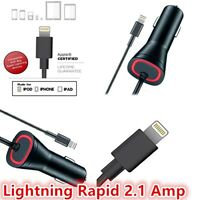 OEM LED Lightning Rapid Car Vehicle Charger 5V/2.1 Amp MFI Ceritified For iPhone