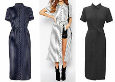Unbranded Collar Short Sleeve Casual Dresses for Women