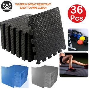 24Pcs EVA Flooring Exercise Mat Floor Gym Garage Home Tiles Fitness Yoga Workout