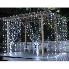 LE 3Mx3M 306 LED Outdoor Curtain Light String Fairy Lights Xmas Wedding Party