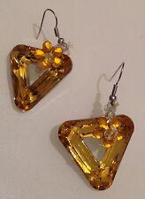 B.O percées tombante mobile triangle fleur jaune effet miroir  4310