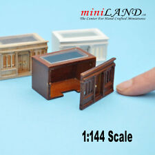 1:144 SCALE LANDYGO STORE ROOMBOX FOR DOLLHOUSE ASSEMBLY Walnut finish