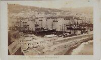 Carlo Ponti Port Genova Italia CDV Foto Vintage Albumina c1860-5