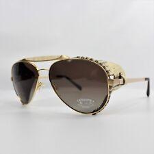 Gold & Wood Caphorn Xtrem Unisex Sunglasses 61-16-135 Lizard Skin Authentic