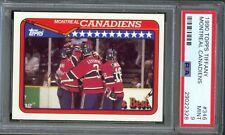 1990 Topps Tiffany #346 Montreal CANADIENS Team GUY CARBONNEAU Mint PSA 9 Pop 1