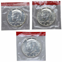 1968 1969 1970 D 40% Silver  Kennedy Half Dollars BU Mint Cello Set Run 3 Coins