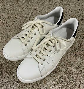 Salvatore Ferragamo Pierre White Leather Sneakers Men's Shoes Size 11