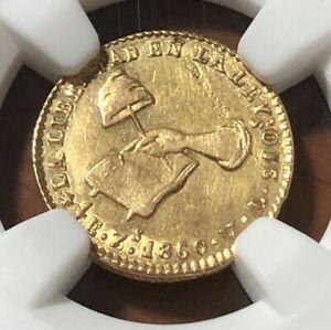 1860Zs VL MEXICO GOLD 1/2 ESCUDO CAP & BOOK - NGC UNC Details - Zacatecas Mint