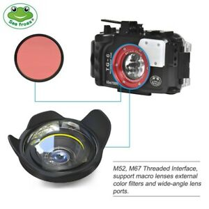 Seafrogs 60m/195ft Underwater Camera Housing for Olympus TG-6 with Dome Port