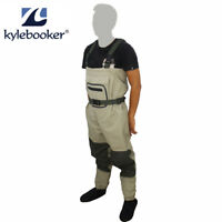 Breathable Fly Fishing Stockingfoot Waders Pants Stocking Foot Chest Waders