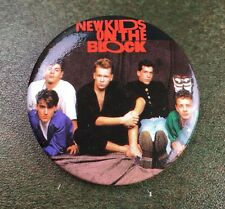 True Vintage 1989 NKOTB New Kids on the Block Group Pin 1.5 Inches NOS Deadstock