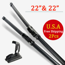 "22"" & 22"" Windshield Wiper Blades Bracketless OEM Quality ALL SEASON PREMIUM USA"