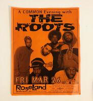 1999 THE ROOTS Original Classic Concert Poster Flyer Rap Hip Hop NYC Come Alive