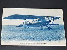 CPA 1920-1930 AVIATION AVION AU DEPART CAMP DE SISSONNE