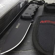 "8"" MTECH USA SURVIVAL HUNTING KNIFE w/ SHEATH Combat Fixed Blade Tactical"