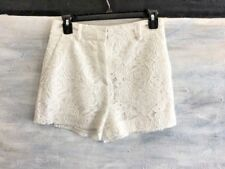 NWOT! Women's McQ Floral Eyelet 100% COTTON Short Shorts, IT 38 US 4/6 - White
