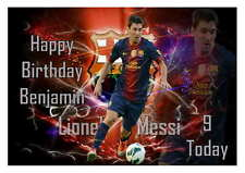 LARGE A5 GLOSSY PERSONALISED BARCELONA LIONEL MESSI BIRTHDAY CARD