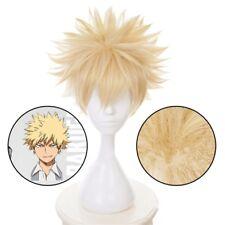 1x Bakugou Katsuki My Hero Academia Baku no Hero Short Fluffy Blonde Cosplay Wig