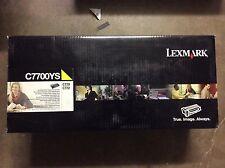 LEXMARK C7700YS GENUINE YELLOW TONER CARTRIDGE FOR C770 C772 NEW