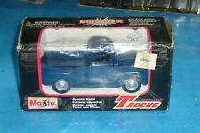 Maisto 1953 Red Blue Farm Truck Pull Back Action Trucks Diecast #21020
