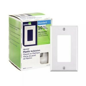 Leviton Decora Single-Switch Wall Plate in White (10-Pack)