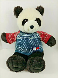 Tommy Hilfiger Promo  Panda Bear Plush Toy Sweater Logo (Excellent Condition)