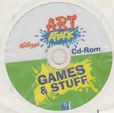 ART ATTACK CD ROM GAMES & STUFF PROMO FROM KELLOGG`S