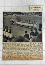 1949 Worthing Football Club, Footballers Tribute To Arnold Suttle