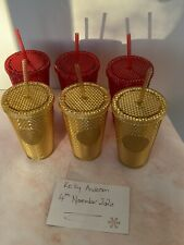 More details for starbucks eu/uk christmas 2020 grande red and gold studded cold cups