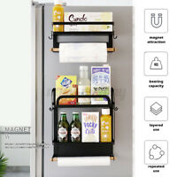 1/2-Ply Magnetic Rack Organizer Spice Storage Shelf Kitchen Refrigerator Holder