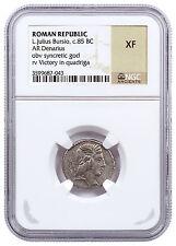 Roman Republic, Random Silver Denarius (3rd-1st Centuries BC) NGC XF SKU48373