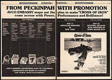CROSS OF IRON__Original 1977 Trade print AD/ poster_mrkting promo__SAM PECKINPAH