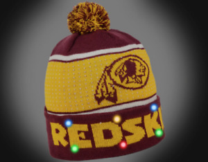 Washington Redskins NFL Big Logo 2018 Light Up Beanie