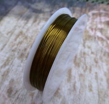 Copper Beading Wire Antique Bronze 0.6mm thick