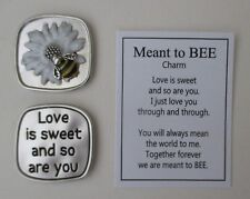 m Love is sweet and so are you MEANT TO BEE Pocket token charm bumblebee Ganz