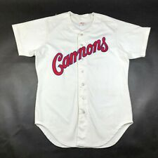 Vintage Cannons Mens 44 White Baseball Jersey Rawlings Button Front Script