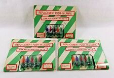 Vintage Christmas Replacement Color Push In Light Bulbs