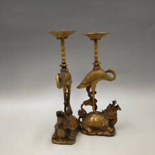China Antique Brass sculpture ornament dragon turtle crane Wax table Statue