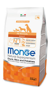 Monge All Breeds Croquettes Dog Adult Duck 2,5kg [all Sizes]