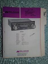 New listing Midland 65-470 service manual original repair book tape radio am/fm mpx in dash