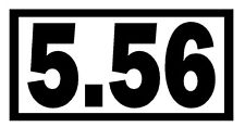5.56 Vinyl Decal Sticker Car Window Wall Bumper Gun Ammo M16 AR-15 Assault Rifle