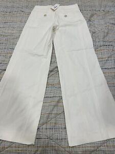 100% Authentic CHANEL  Womens White Cotton Jeans 07P  Size 38