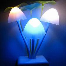 LED Pilz Lampe Nacht Licht Kontrolle EU Stecker Schlafzimmer Wand Leuchte