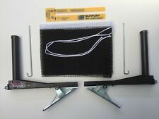 SUNFLEX CLIP Spring Loaded Clamp Type Table Tennis Net & Post Set Clubs Families