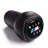 BMW M SPORT LEATHER 6 SPEED SHORT GEAR SHIFT KNOB E60 E90 E92 E91 E46 M3 M5 M6