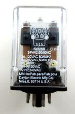 Dayton Relay 5X826M 24V Coil 10Amp DPDT 8-Pin Circular Pin Relay 50/60HZ